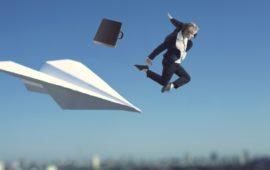 紙飛行機 ビジネスマン